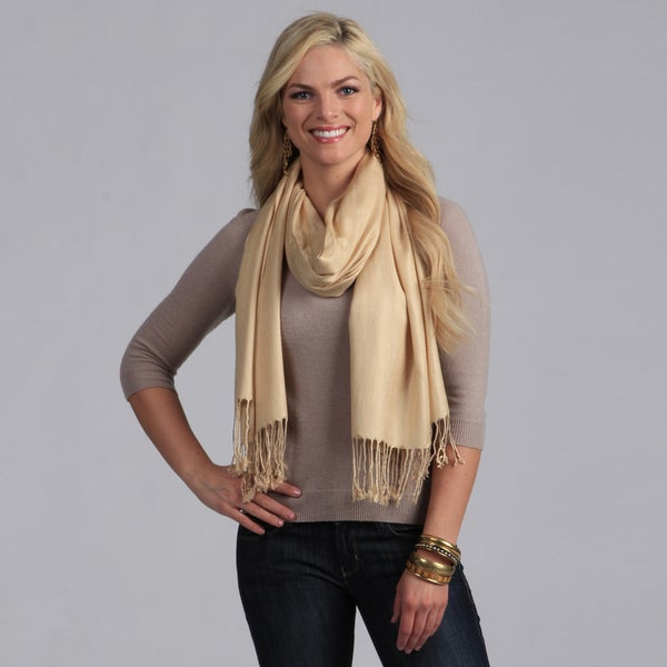 Peach Couture Tan Rayon Scarf. Opens flyout.