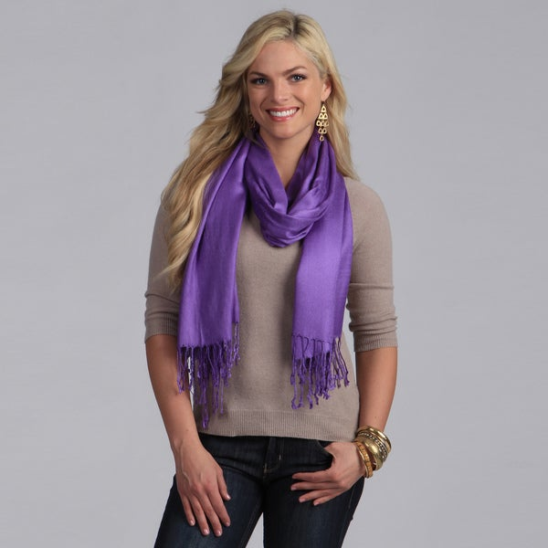 Peach Couture Plum Rayon from Bamboo Scarf
