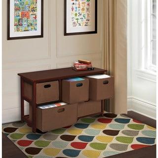 Children's Wooden Cherry Storage Cabinet with Baskets