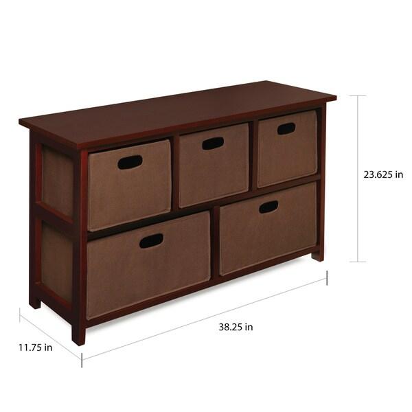 Children's Wooden Cherry Storage Cabinet with Baskets - Free ...