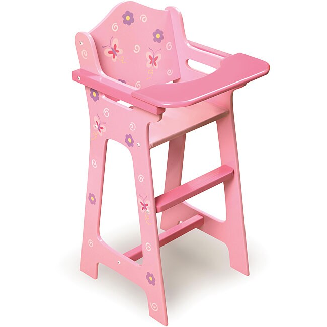 Nice Badger Basket Blossoms And Butterflies Doll High Chair   Pink