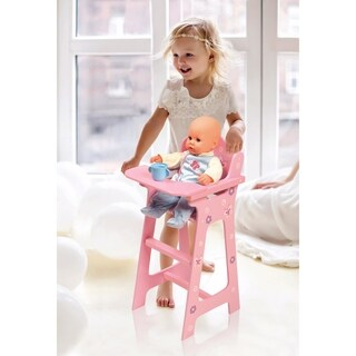 Badger Basket Blossoms and Butterflies Doll High Chair - Pink