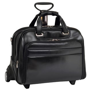 McKlein Midway Leather Checkpoint-friendly 17-inch Rolling Laptop Case