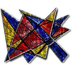 Ash Carl 'Acute Angles' Abstract Metal Wall Art