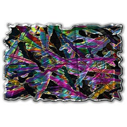 Ash Carl 'Kaleidoscopic Figures' Metal Wall Art