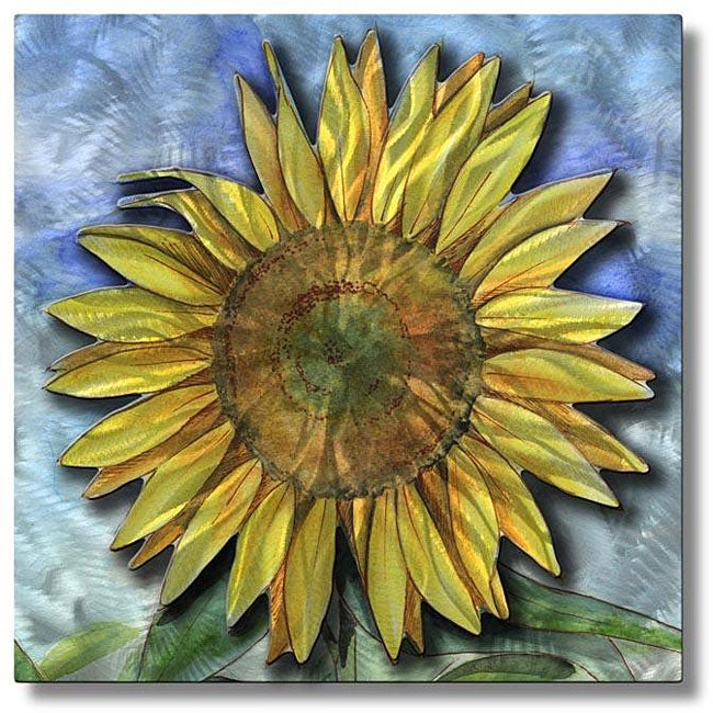 Ash Carl \'Big Sunflower\' Metal Wall Art - Free Shipping Today ...