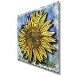 Ash Carl 'Big Sunflower' Metal Wall Art