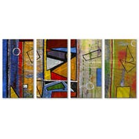 Ruth Palmer 'Abstract' 4-panel Metal Wall Art Set