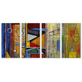 Ruth Palmer 'Abstract' 4-panel Metal Wall Art Set