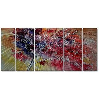Pol Ledent 'Colors of the Tree' 5-panel Metal Wall Art