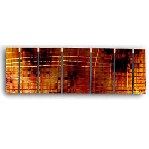 Ash Carl 'Interchange' 7-panel Metal Wall Art