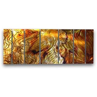 Ash Carl 'Golden Harmony' 7-piece Metal Art Set