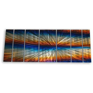 Ash Carl 'Mirrored Sunrise' 7-piece Metal Wall Art Set