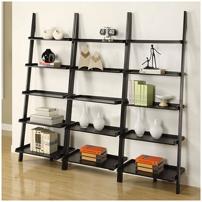 Ideal Black 5-tier Leaning Ladder Shelf (Set of 3) - Free Shipping Today  EH91