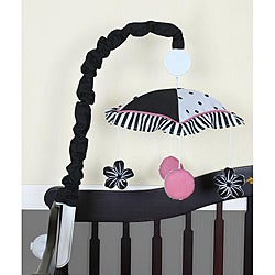 Geenny Black and White Flower Musical Mobile
