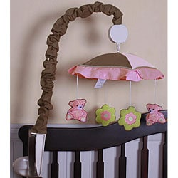 Pink Teddy Bear Musical Mobile