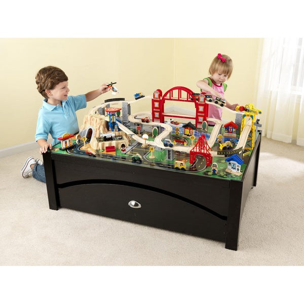 KidKraft Metropolis Train Table and Set  sc 1 st  Overstock.com & KidKraft Metropolis Train Table and Set - Free Shipping Today ...