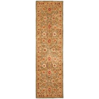 Safavieh Handmade Mahal Sage/ Ivory Wool Runner (2'3 x 10')