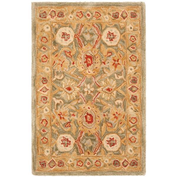 Safavieh Handmade Mahal Sage/ Ivory Wool Rug (3' x 5')