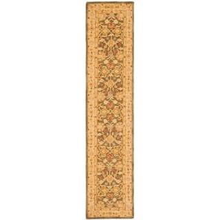 Safavieh Handmade Anatolia Oriental Farahan Olive Grey/ Beige Hand-spun Wool Rug (2'3 x 12')