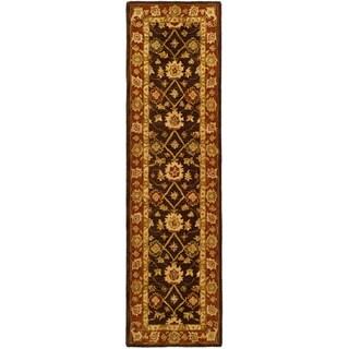 Safavieh Handmade Anatolia Oriental Kerman Olive/ Rust Hand-spun Wool Runner (2'3 x 16')