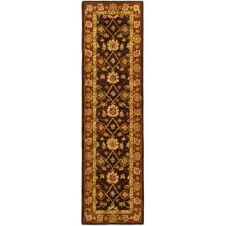 Safavieh Handmade Anatolia Oriental Kerman Olive/ Rust Hand-spun Wool Runner (2'3 x 8')