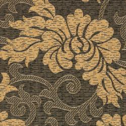 "Safavieh Black/Natural Indoor/Outdoor Floral-Patterned Rug (2'7"" x 5') - Thumbnail 2"