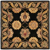 Safavieh Handmade Heritage Timeless Traditional Black Wool Rug - 6' x 6' Square