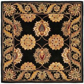 Safavieh Handmade Heritage Timeless Traditional Black Wool Rug - 8' x 8' Square