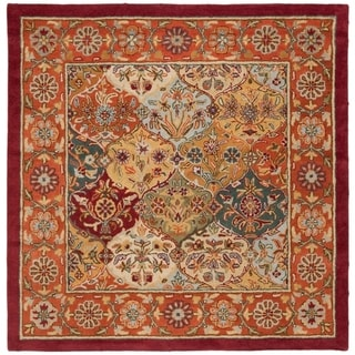 Safavieh Handmade Heritage Traditional Bakhtiari Multi/ Red Wool Rug (6' Square)