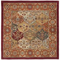 Safavieh Handmade Heritage Traditional Bakhtiari Multi/Red Wool Area Rug - 8' x 8' Square
