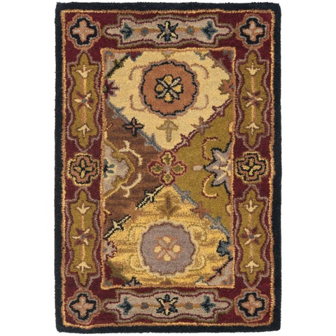 Safavieh Handmade Heritage Traditional Bakhtiari Multi/ Red Wool Rug - 2' x 3'