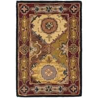 Safavieh Handmade Heritage Traditional Bakhtiari Multi/ Red Wool Rug - Multi/Red - 2' X 3'