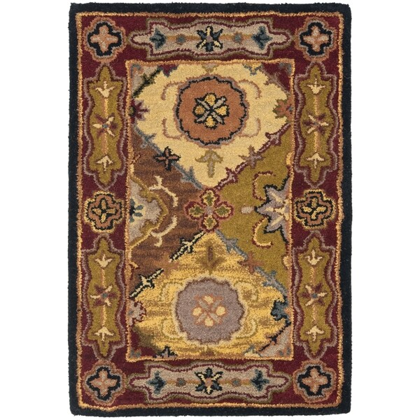 Safavieh Handmade Heritage Traditional Bakhtiari Multi/ Red Wool Rug (2' x 3')