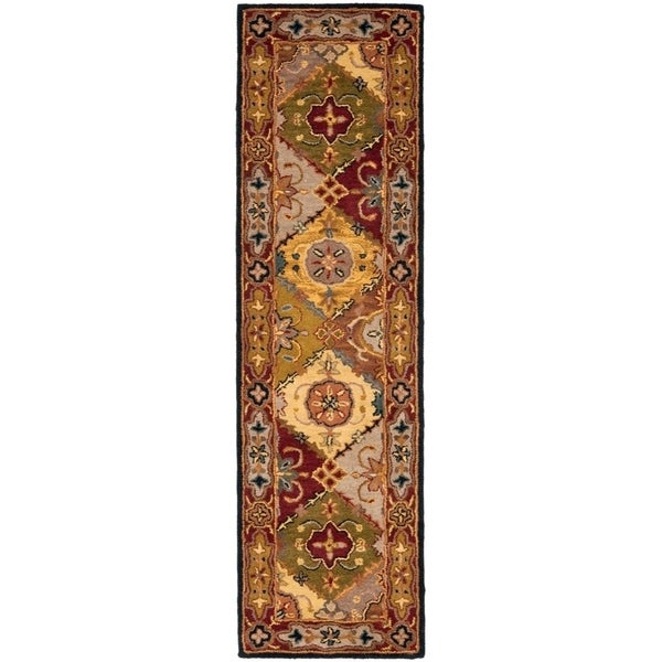 "Safavieh Handmade Heritage Traditional Bakhtiari Multi/ Red Wool Runner Rug - 2'3"" x 12'"