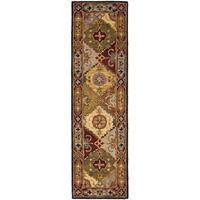 "Safavieh Handmade Heritage Traditional Bakhtiari Multi/ Red Wool Runner Rug - 2'3"" x 14'"