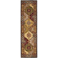 "Safavieh Handmade Heritage Traditional Bakhtiari Multi/ Red Wool Runner Rug - 2'3"" x 16'"