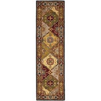 "Safavieh Handmade Heritage Traditional Bakhtiari Multi/ Red Wool Runner Rug - 2'3"" x 8'"