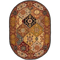 "Safavieh Handmade Heritage Traditional Bakhtiari Multi/ Red Wool Rug - 4'6"" x 6'6"" Oval"