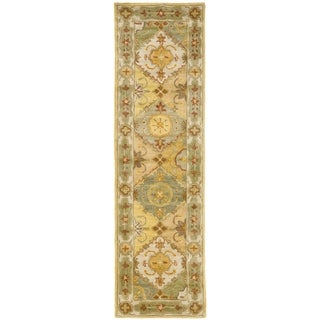 Safavieh Handmade Heritage Traditional Bakhtiari Multi/ Ivory Wool Runner (2'3 x 8')
