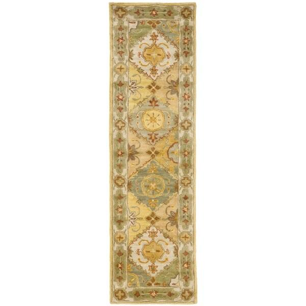 "Safavieh Handmade Heritage Traditional Bakhtiari Multi/ Ivory Wool Runner Rug - Multi/Ivory - 2'3"" x 8'"