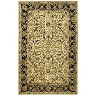 Safavieh Handmade Heritage Timeless Traditional Ivory/ Black Wool Rug (6' x 9')