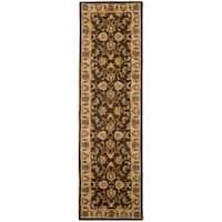 Safavieh Handmade Heritage Timeless Traditional Brown/ Ivory Wool Runner (2'3 x 10')