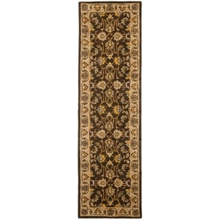 Safavieh Handmade Heritage Timeless Traditional Brown/ Ivory Wool Runner (2'3 x 14')