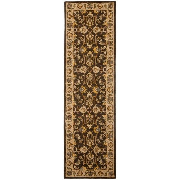 Safavieh Handmade Heritage Timeless Traditional Brown/ Ivory Wool Runner (2'3 x 8')