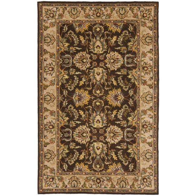 Safavieh Handmade Heritage Timeless Traditional Brown/ Ivory Wool Rug (3' x 5')