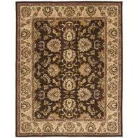 Safavieh Handmade Heritage Timeless Traditional Brown/ Ivory Wool Rug - 4' x 6'