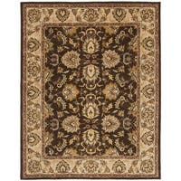 Safavieh Handmade Heritage Timeless Traditional Brown/ Ivory Wool Rug - 5' x 8'
