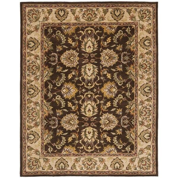 Safavieh Handmade Heritage Timeless Traditional Brown/ Ivory Wool Rug (5' x 8')
