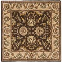 Safavieh Handmade Heritage Timeless Traditional Brown/ Ivory Wool Rug (8' Square)